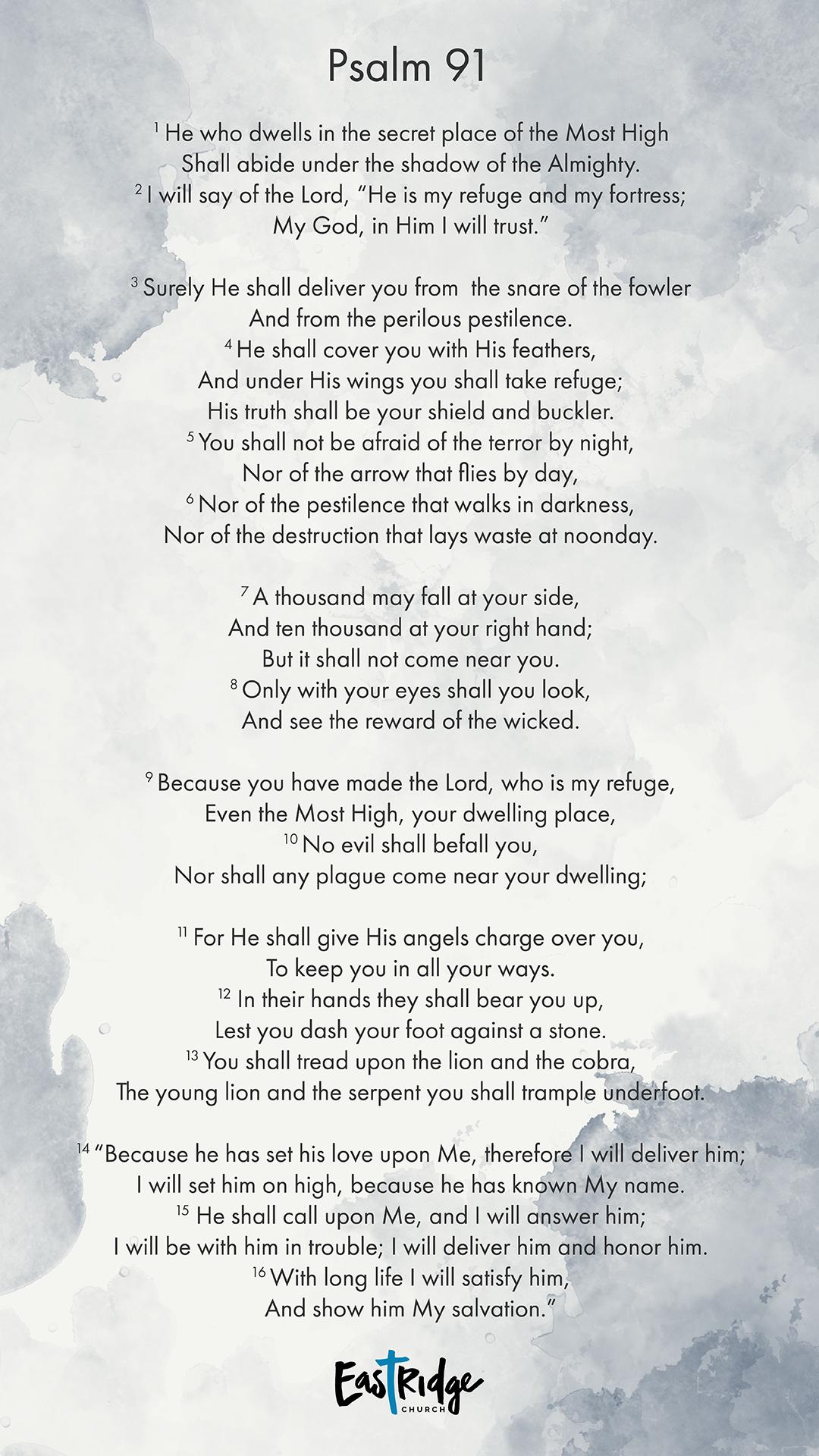 Psalm 91 11 Einheitsübersetzung